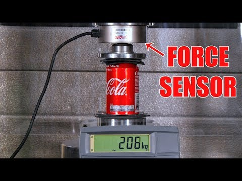 How Much Weight Can a Soda Can Hold? Hydraulic Press Test