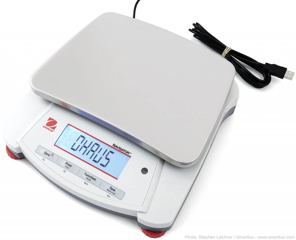 Ohaus Navigator scale with optional USB interface installed