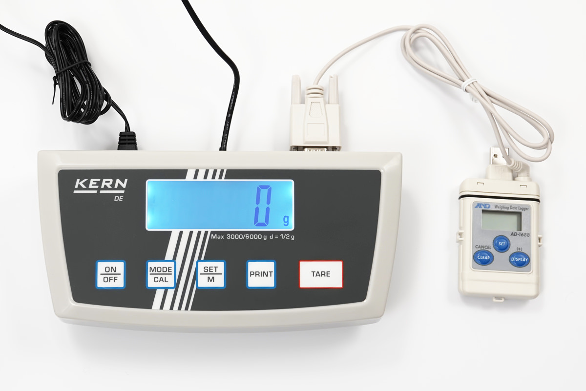 ad-1688 weighing data logger and kern de scale